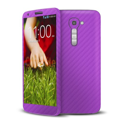 Cruzerlite Purple Carbon Fiber Skin Case for LG G2 Model VS980 - Retail Packaging (Lgg2 Carbon Fiber compare prices)