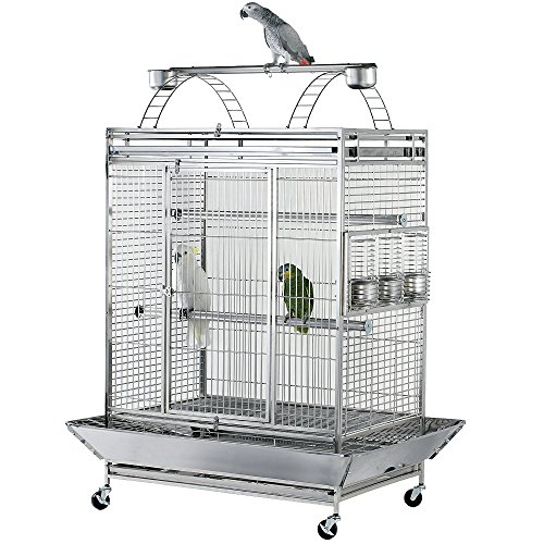 Stainless Steel Play Top Bird Cage
