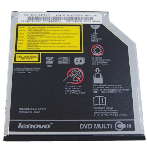 IBM Lenovo Geninue Original Slim Ultrabay Thinkpad T60 X60 X60s Z60 Z60t Z60m Z61 T40 T41 T42 T43 T60 T61 X40 X60 X61 series 8X DVD+/-RW CD-ROM Dual layer Drive Burner