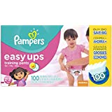 Pampers Easy Ups Training Pants, Size 2T3T Value Pack Girl ,100 Count