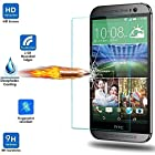 [HTC M9 Screen Protector] Vogue Shop Tempered Glass HD Clear Screen Protector Guard Film for HTC M9, with Anti-Scratch / Bubble-Free / Explosion-Proof / Pressure-Resistant / Shockproof -Retail Packaging (0.3mm, 9H Hardness, 2.5D Rounded Edges) [Easy Installation] Premium Tempered Glass Screen Protector for HTC M9 - Protect Your Screen From Drops, Scratches and Shatterproof, 99% Touch-screen Accurate, Round Edge Ultra-clear Glass Screen Protector Perfect Fit for HTC M9 Ultra Thin Tempered Glass LCD HD Premium Screen Protector Water & Oil Resistant Maximum Screen Protection From Bumps, Drops, Scrapes