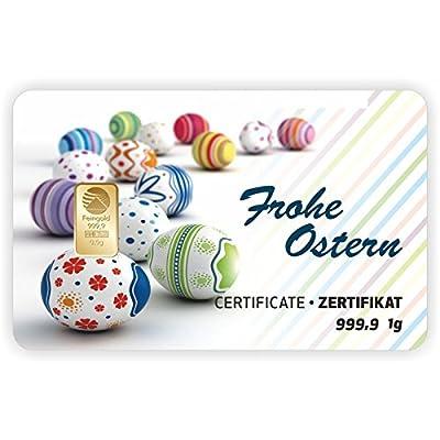 Goldbarren Geschenkkarte 0,5 g 0,5g Gramm Feingold 999.9 Nadir Gold Frohe Ostern
