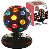 Global Gizmos 6-inch Roatating Disco Ball Light, Multi-Coloured