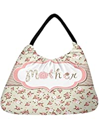 Snoogg Hand Drawn Vector Floral Frame With A Word Mother Great Mothers Day Card Beach Tote Shopper Bag Handbag...