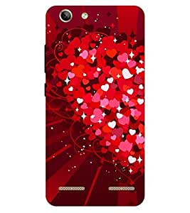 Chiraiyaa Designer Printed Premium Back Cover Case for Lenovo Vibe K5 Plus (heart boy girl friend valentine miss kiss red) (Multicolor)