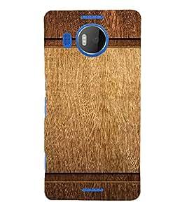 PrintVisa Plain Wooden Pattern 3D Hard Polycarbonate Designer Back Case Cover for Nokia Lumia 950 XL