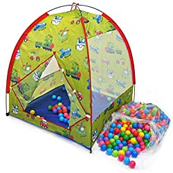 Transportation Play Tent W/ Safety Meshing For Child Visibility & 300