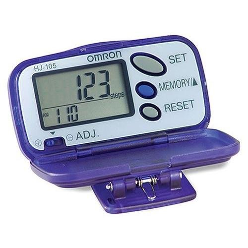 Omron HJ-105 Translucent Pedometer with Calorie Counter
