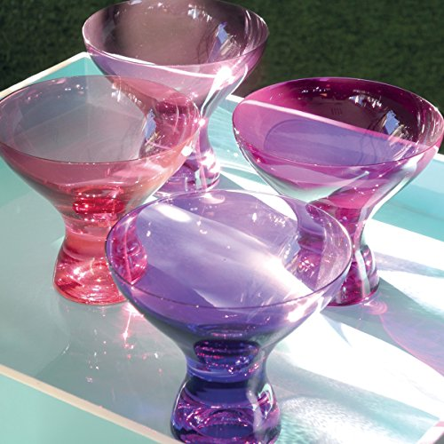 KADOR ROSE Boite de 4 coupes à glace couleurs assorties