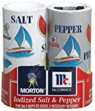 Mortons Salt, McCormick Pepper Pack, 5.50-ounce Shakers Set of 4