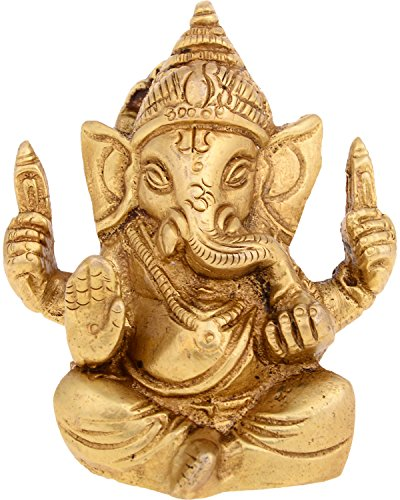Kapasi Handicrafts Kapasi Handicrafts Brass Ganesha idol