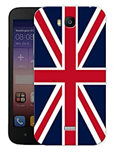 """Humor Gang British Flag Printed Designer Mobile Back Cover For """"Huawei Honor Bee"""" (3D, Matte, Premium Quality Snap On Case)"""