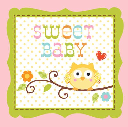Best Price Creative Converting Happi Tree Sweet Baby Girl Beverage Napkins, 16 Count