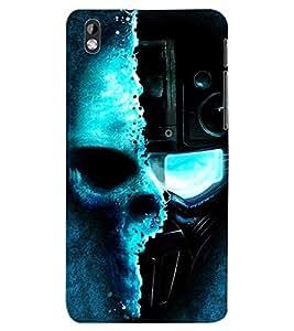 ColourCraft Skull Back Case Cover for HTC DESIRE 816