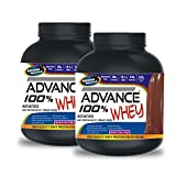 Advance 100% Whey Protein 2kg Vanilla& ADVANCE 100% WHEY 25gm Protein Per 33gm 1kg Chocolate (Combo Offer)