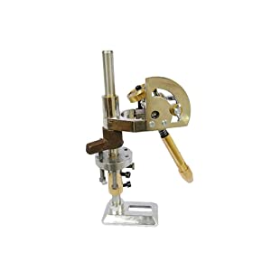 Gem Grinding Faceted Manipulator Jade Faceting Machine Jewel Angle Milling Tool Height Adjustable + Positioner and Lotus Seat (72 Scale) (Tamaño: 72 Scale)