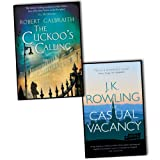 J K Rowling Robert Galbraith J K Rowling 2 Books Collection Pack Set RRP: £24.98 (The Cuckoos Calling(Hardcover), The Casual Vacancy)