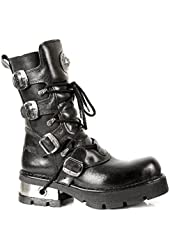 New Rock M373 S1 - Mens All Leather Gothic Boots