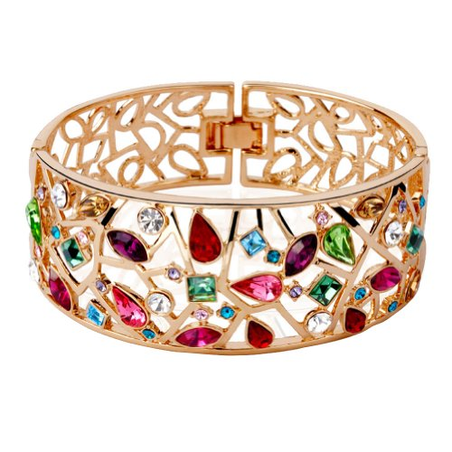 Hariko jewelry color drop Bangle ladies Crystal alloy Inner diameter 2.34 '1