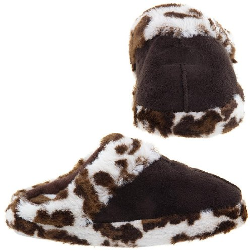 Image of Easy Brown Leopard Slippers for Women (B009TH332W)