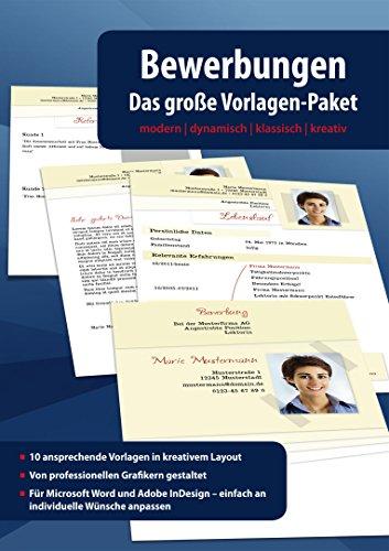 Bewerbungen – Das große Vorlagen Paket – modern – dynamisch ...