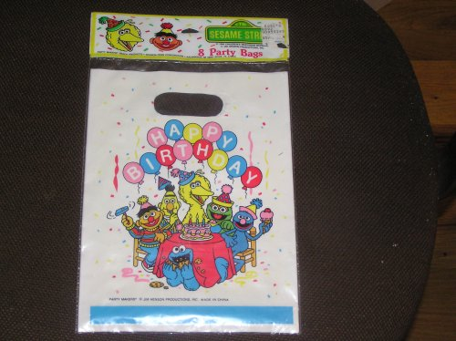 Sesame Street Happy Birthday Party Bags 8 Count - 1
