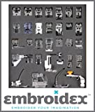 Embroidex - Huge Collection of 32 Sewing Presser Feet for Brother, Babylock, New Home, Janome, Elna, Toyata, Singer, Elna, Simplicity, Necchi, New Home, Kenmore, White Sewing Machine