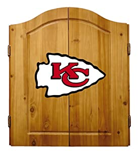 Buy NFL Kansas City Chiefs Solid Pine Cabinet And Bristle Dartboard Set by Imperial