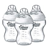 Tommee Tippee Closer to Nature Easi vent 260 ml9fl oz Feeding Bottles 3 Pack