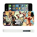 COVER FOR APPLE IPHONE 4 GRAND THEFT AUTO 5, V CASE & SCREEN PROTECTOR - WH-T549