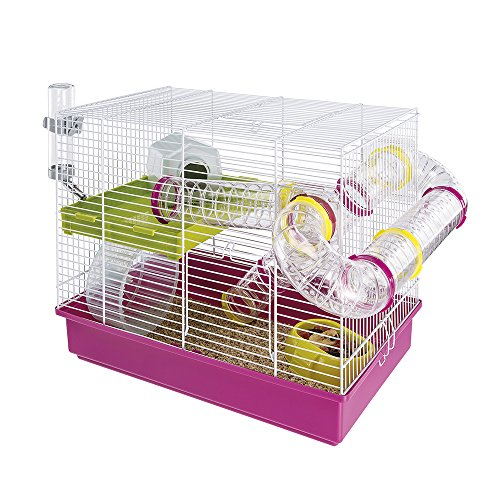 ferplast cage hamster laura avec accessoires 53 99. Black Bedroom Furniture Sets. Home Design Ideas