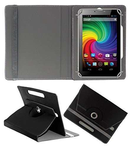 ACM ROTATING 360° LEATHER FLIP CASE FOR MICROMAX FUNBOOK MINI P410I TABLET STAND COVER HOLDER BLACK  available at amazon for Rs.149