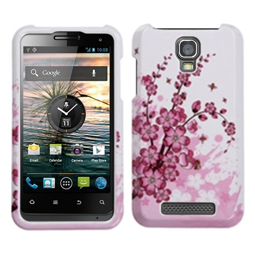 Mybat Ztev8000Hpcim025Np Slim Stylish Protective Cover For Zte Engage V8000 - 1 Pack - Retail Packaging - Spring Flowers front-1031662