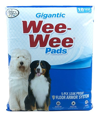 цена на Four Paws Wee Wee Pads for Puppies to Adult Dogs - 18 Count - Standard - Gigantic