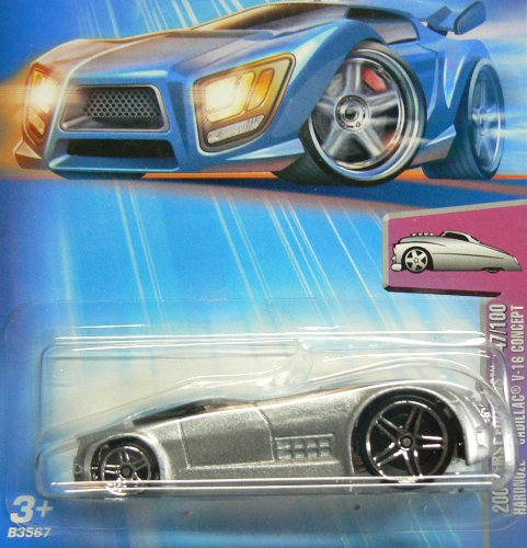 2004 - Mattel - Hot Wheels - 047 - Model #B3567 - First Editions - Hardnoze Cadillac V-16 Concept - Die Cast Metal - New - Collectible - 1