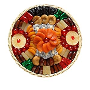 Broadway Basketeers Dried Fruit Round Basket (Large) Gift Basket by Broadway Basketeers