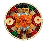 Broadway Basketeers  Dried Fruit Round Basket (Large) Gift Basket