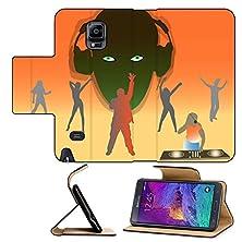 buy Luxlady Premium Samsung Galaxy Note 4 Flip Pu Leather Wallet Case Club Dancing Color Illustration Image Id 527419