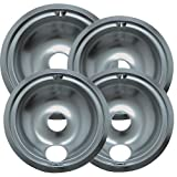 Range Kleen 119204XZ GE Drip Pans Containing 3 Units 119B, 1 Unit 120B, Chrome