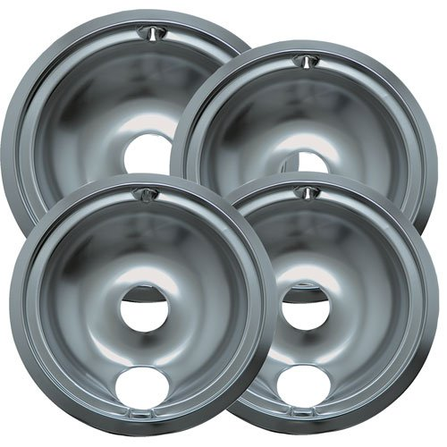 Range Kleen 119204XZ GE Drip Pans Containing 3 Units 119B, 1 Unit 120B, Chrome (Small Oven Drip Pans compare prices)