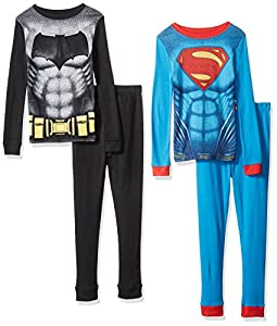 Angry Birds Boys' Batman Vs Superman 4pc Cotton Sleepwear at Gotham City Store