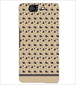 PrintDhaba Leaf Pattern D-1569 Back Case Cover for MICROMAX A350 CANVAS KNIGHT (Multi-Coloured)