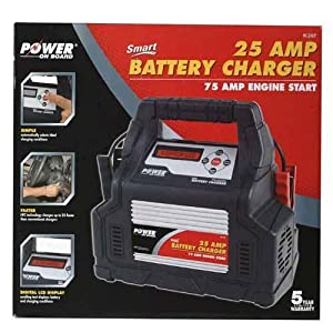 Smart 25 AMP Battery Charger/ 75 AMP Engine Start