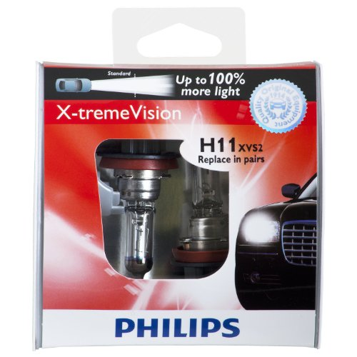 philips h11 x tremevision upgrade headlight bulb pack of 2 046677715755. Black Bedroom Furniture Sets. Home Design Ideas