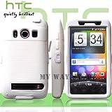 HTC EVOケース スクリーン プロテクター付属3重構造 (au WiMAX ISW11HT Screen Protector Case ) 【白 × 白】