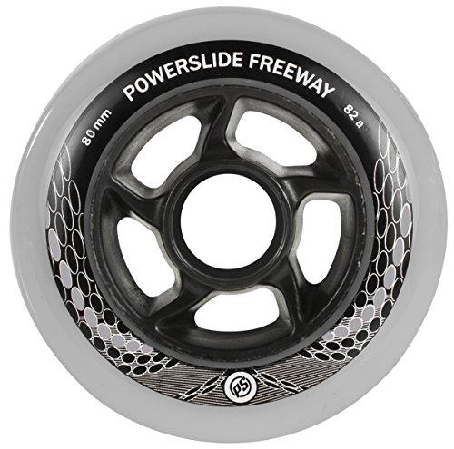 Powerslide 905183  Rollen FREEWAY 4-Pack, Grau, 80mm/82a