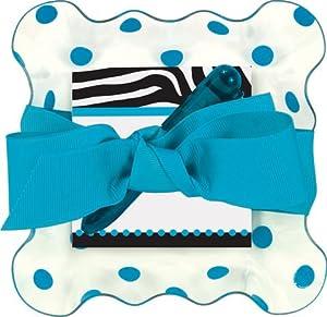 Blue Polka Dot Clear Tray Notepad Set