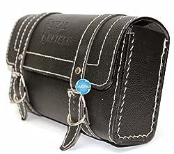 Digitru - Enfield Square Saddle Bag - Black