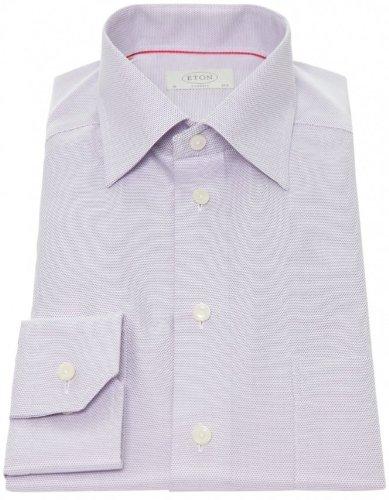 Eton Men's Shirt Purple Formal Textured UK 19