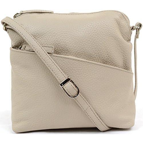 Womens Luxury Soft Leather Handbag   Shoulder Bag   Cross Body Bag ( Black, Fuchsia, Navy, Purple, Stone)
